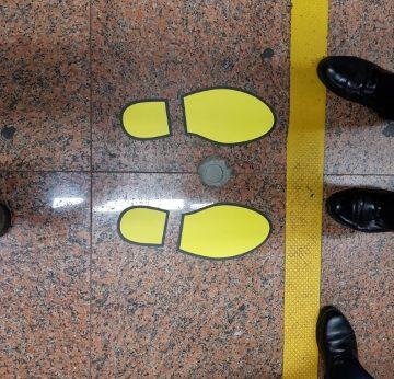Footprint floor sticker
