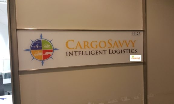 Acryic Sign for Cargo Savvy
