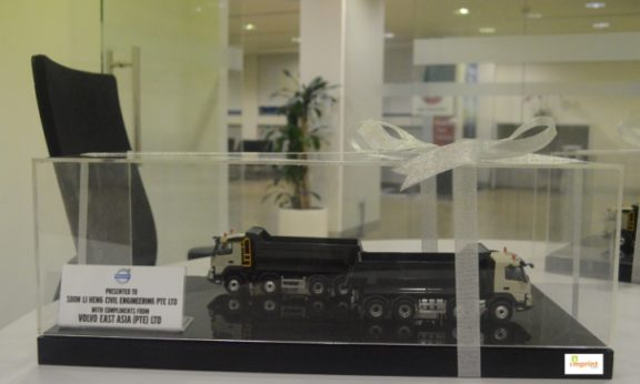 Acrylic Showcase Box for Volvo Trucks
