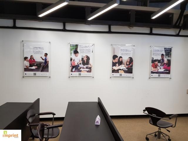 sandwich acrylic frames at NTU