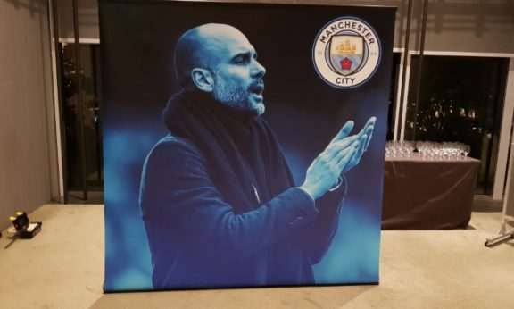Pull Up Banner for Manchester City