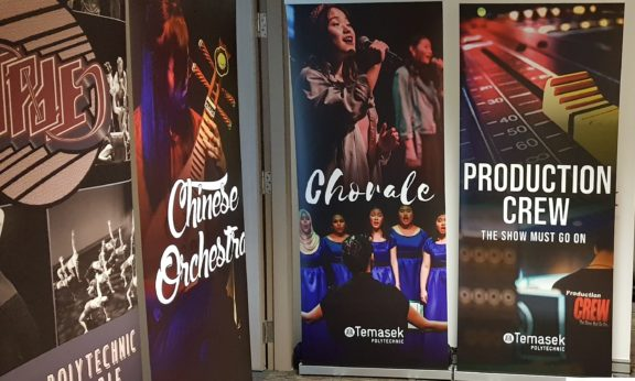 Standard Pull Up Banners for Temasek Polytechnic